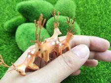 Miniature Dollhouse Fairy Garden Accessories Terrarium - 4 Tiny Brown Deer FS