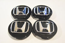 "NEW set 4 wheel rim center cap logo 2.75"" 69mm Civic Accord CRV black for Honda"