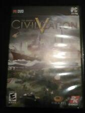 Sid Meier's Civilization V 5 PC Game Case w/ Manual Key