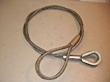 """Wire Rope 1/2"""" x 8' Cable Sling Choker Standard Loop + Thimble End"""