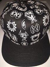 White And Black Stolin Medallions SnapBack Hat