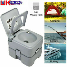 Portable Toilet 5 Gallon 20L Flush porta-potty Outdoor Travel Camping WC Caravan