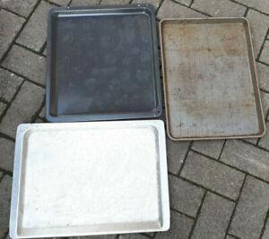 3 stück back ofen blech Alu + Metall 46x34  43x37,5  45x32,5