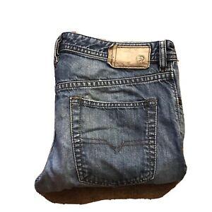 DIESEL BUSTER Jeans Size 32W 32L Mens Blue Reg Slim Tappered