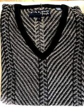 New NWT Mens Pringle L V-Neck Black Grey Sweater Retails For $90.00
