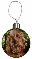 Irish Red Setter Dog Christmas Tree Bauble Decoration Gift, AD-RS1CB