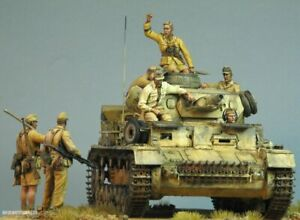 1/35 Resin WWII German Tank Crew 7 Figures Kit unpainted unassembled qj130