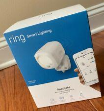New listing New! Ring Smart Lighting Spotlight Motion Activated Lighting 400 Lumens White