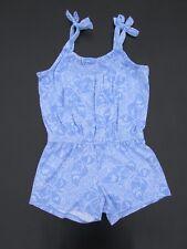 Gymboree 4 Butterfly Batik Blue Floral Knit Shorts Romper AB1