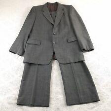 Ernesto Bellini Smiths 44R gray vintage wool blend suit - 2pc