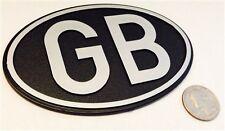 LARGE OVAL BLACK GB BADGE - GREAT BRITAIN UK UNITED KINGDOM BRIT - FREE SHIP!