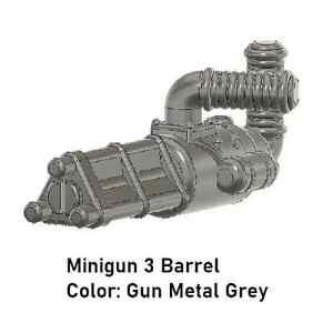 Custom MINIGUN Tri Barrel for Minifigures -Pick Color!- Star Wars  NEW