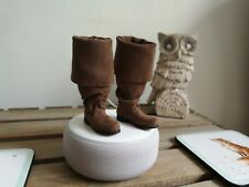 1/6 scale jack sparrow boots with foot pegs NOT hot toys