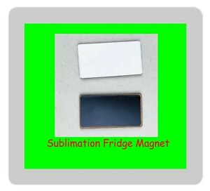 12 x Blank Sublimation Fridge Magnet MDF Rectangle 7.5cm x 4cm