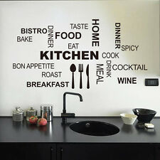 Kitchen Rules Quote Wall Stickers Vinyl Art Mural Decal Removable Home Decor DIY