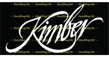 Kimber Firearms II - Hunting/Outdoor Sports - Vinyl Die-Cut Peel N' Stick Decals