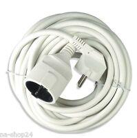 (3,43€/m) 2 Meter Verlängerungskabel PVC Stromkabel 3x 1,50 mm²  weiß Schuko
