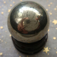 Hot!!! 1PC 30mm Natural Pyrite Stone Sphere Crystal Polished Ball Healing