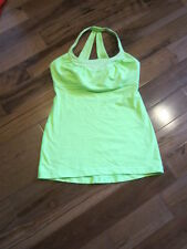 LULULEMON scoop me up tank in ray green size 6