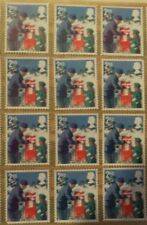 100 2nd class unfranked  stamps - all on greaseproof paper - 2018 xmas issue