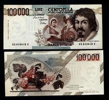100.000 Lire Caravaggio 1° Tipo Lettera C  FDS