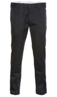"DICKIES Mens Black 872 Slim Fit Work Pants Trousers 34"" Waist - 34"" Leg BNWT"