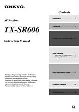 Onkyo Integra TX-SR606 Receiver Owners Instruction Manual
