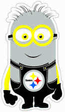 NEW Pittsburgh Steerlers MINION Decals Full Color Digital Print Decal/Sticker