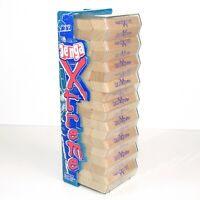 Jenga XTREME    54 Angled Xtreme Wood Blocks Instructions & Case  100% Complete