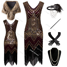 Vintage 1920s Flapper Gatsby Cocktail Dress Evening Prom Party Dresses 6-20