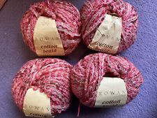 Rowan Cotton Braid Yarn Wool 200G Shade 359 Klimt Pink/Cream Braided Ribbon