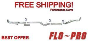 "4"" Exhaust System No Muffler Flo-Pro 801NM - Fits 01-07 GM Duramax 6.6L"