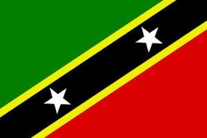 3' x 2' St Kitts and Nevis Flag Saint Christopher Caribbean Banner