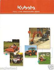 Farm Tractor Brochure - Kubota - Full Product Line Construction Eq 2005 (F1575)