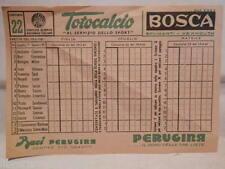 Vecchia schedina TOTOCALCIO Concorso 19 febbraio 1961 22 BOSCA Baci Perugina NG