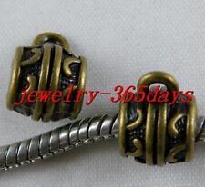 40pcs Bronze Color Beautiful Tube Bails Fit Bracelet 13x9mm 11504