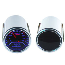 "Car Motor Smoke Tint Len 2"" 52mm Indicator Volt Voltage Gauge Kit Meter"