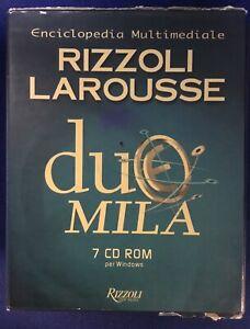 Enciclopedia Multimediale Rizzoli Larousse7 Cd-ROM Dizionario Italiano Sinonimi