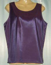 Ladies Sleeveless Thai Silk Blouse /  Top / XL / UK 18 / Purple
