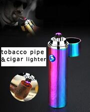The Inferno Dual Beam Pipe&Cigar Lighter - No Gas, Wind&Water proof, Recharge