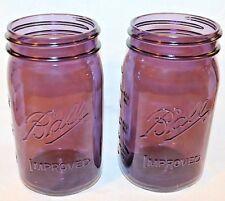 NEW Ball Quart Mason Jars Wide Mouth Heritage Collection Set of 2 Jars  Purple