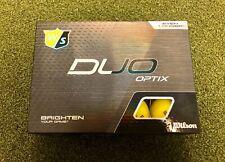 12 New 2020 Wilson Staff Duo Optix High-Visibility Matte Yellow Golf Balls