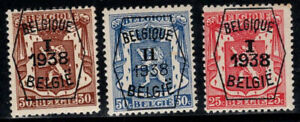 Belgium 1938 MNH 100% coat of arms precancelled