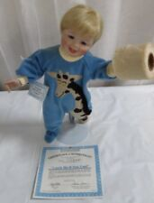 """Ashton-Drake Doll """"Catch Me If You Can"""" Stevie and his roll of toilet paper NIB"""