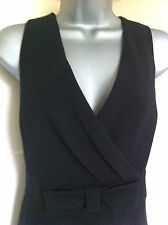 COLLECTIONatDEBENHAMSsmart black stretch fitted jersey dress empire line12BNWT