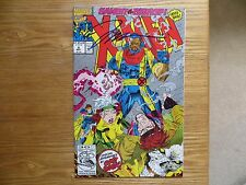 1992 MARVEL X-MEN # 8 BISHOP VS GAMBIT & GHOST RIDER SIGNED JIM LEE ART WITH POA