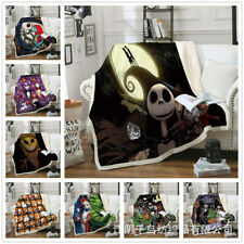 Nightmare before Christmas printed Thick Flannelette Blanket Sofa Cover Carpet