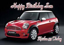 Personalised birthday red card mini card son grandson daughter dad car b