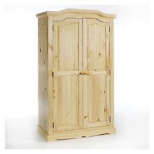 Armoire penderie style traditionnel avec portes battantes en pin massif