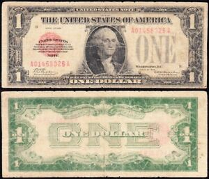 *SCARCE* 1928 $1 RED SEAL United States Note! FREE SHIPPING! A01458326A